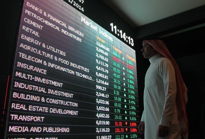 مؤشرات الأسهم السعودية تتراجع اليوم