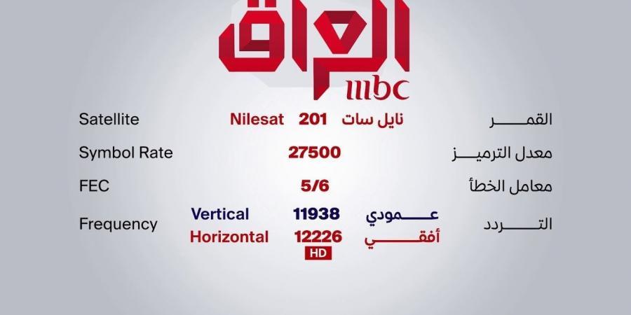 تردد قناة mbc العراق على النايل سات