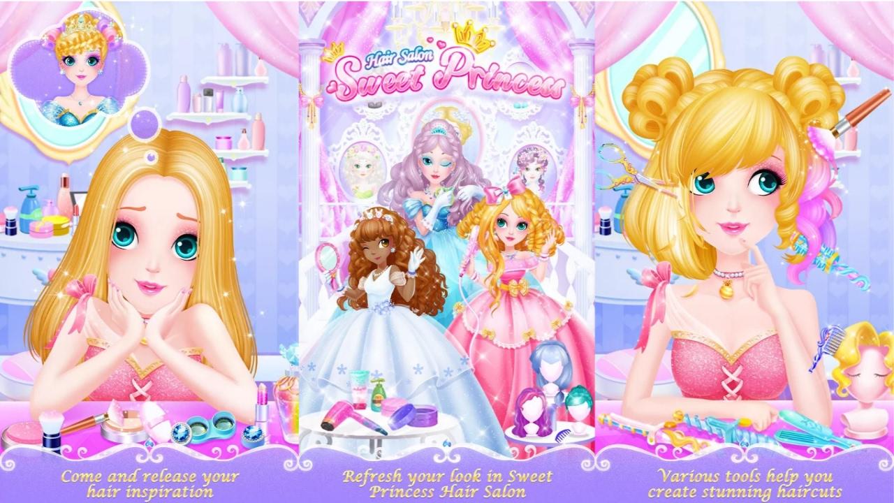 العاب تلبيس بنات 2021 جديدة ومميزة ومواصفات لعبة Sweet Princess Hair Salon العاب جديده بنات
