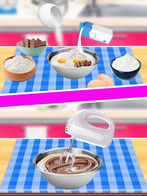 لعبة صُنع الكيك بالشكولاتة اللذيذ للتحميل السريع المُباشر العاب أون لاين