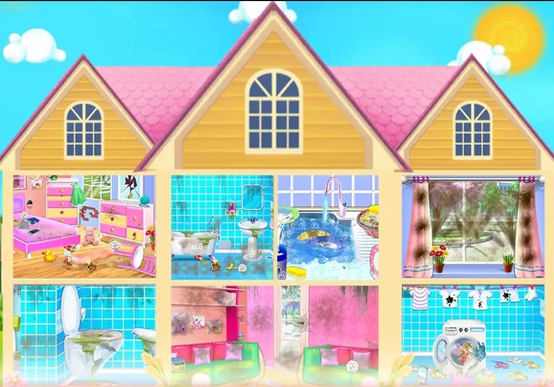 """ألعاب جديدة للبنات ولعبة """" تنظيف المنزل لعبة بنات"""" الجديدة 2020"""