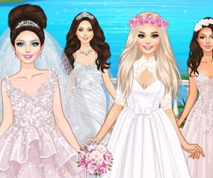 العاب بنات تلبيس للزفاف جديدة