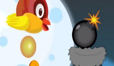 لعبة إسقاط بيضة فلابى العاب مغامرات اونلاين Flappy Egg Drop