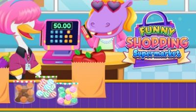 لعبة التسوق المضحك العاب بنات اونلاين مجانية Funny Shopping Supermarket