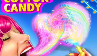 لعبة تحضير حلوى القطن ألعاب بنات طبخ أونلاين Rainbow Cotton Candy
