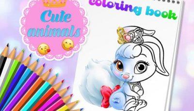 لعبة تلوين الحيوانات اللطيفة العاب تلوين اونلاين مجانية Cute Animals Coloring Book