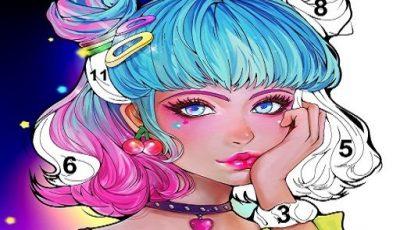 لعبة الرسم والتلوين للفتيات العاب بنات اونلاين مجانية Sweet Coloring: Color by Painting Game