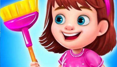 لعبة تنظيف منزل الأميرة الفوضوي ألعاب أونلاين للبنات Princess Messy House Cleaning