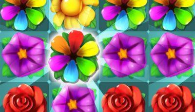 لعبة توصيل الزهور الملونة العاب مطابقة اونلاين مجانية Flowers Connect