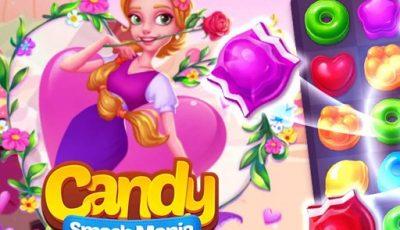 لعبة سحق الحلوى العاب الغاز اونلاين مجانية Candy smash mania