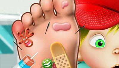 لعبة عيادة القدم العاب اونلاين مجانية Foot Treatment
