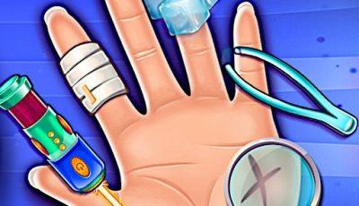 لعبة طبيب جراحة اليد العاب طبيب اونلاين مجانية Hand Treatment