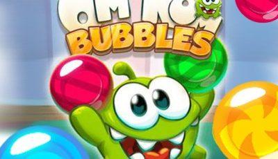 لعبة فقاعات أوم نوم العاب الغاز اونلاين مجانية Om Nom Bubbles