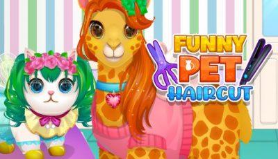 لعبة قص شعر الحيوانات الأليفة العاب قص شعر اونلاين مجانية Funny Pet Haircut