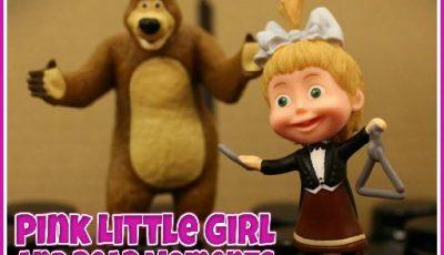 لعبة لغز ماشا والدب العاب الغاز اونلاين مجانية Pink Little Girl and Bear Moments