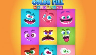 لعبة تعبئة الوحوش الملونة العاب الغاز اونلاين Monsters Color Fill