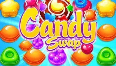 لعبة مبادلة الحلوى العاب مطابقة اونلاين مجانية Candy Swap