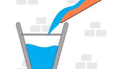 لعبة لغز دلو الماء العاب الغاز اونلاين Water Bucket