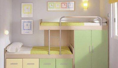 غرف نوم اطفال سرير بدورين غير تقليدية.